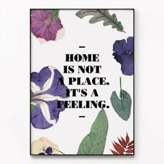 메탈 보테니컬 레터링 식물 인테리어 액자 Home is