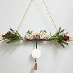 (피어나리메이드)부엉이갈란드 석고방향제 (리필오일10ml포함)