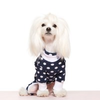 NAVY POLKA DOT FLEECE ALL IN ONE