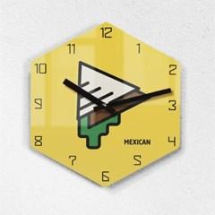 리플렉스 모던6각 멕시코 까페 무소음벽시계 MAX255YEO_(1340704)