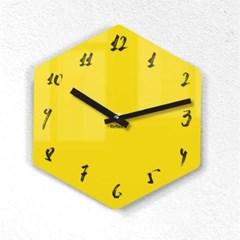 리플렉스 모던6각 캘리옐로우 무소음벽시계 CA12YE_(1340703)