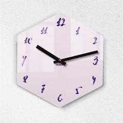 리플렉스 모던6각 캘리핑크 무소음벽시계 CA12FP_(1340700)