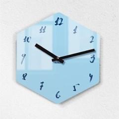 리플렉스 모던6각 캘리스카이블루 무소음벽시계 CA12SB_(1340697)