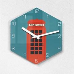 리플렉스 모던6각 런던부스 무소음벽시계 LON25TE_(1340695)