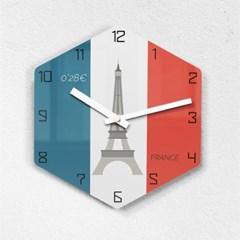 리플렉스 모던6각 런던탑 무소음벽시계 LON25FR_(1340694)