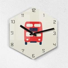 리플렉스 모던6각 런던버스 무소음벽시계 LON25BUS_(1340692)