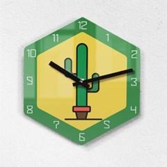 리플렉스 모던6각 멕시코 선인장 무소음벽시계 MAX255GR_(1340691)