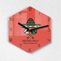 리플렉스 모던6각 멕시코 레드 무소음벽시계 MAX255RD_(1340690)