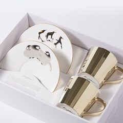 [LUYCHO] 루이초 Tall Gift Set - Penguins+Baby Penguins