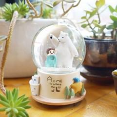 곰과 소녀 워터볼 오르골 (의자)