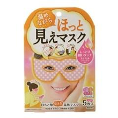 [일본] 눈주위를 따뜻하게 온열 아이 마스크 (5장) -4571169853265
