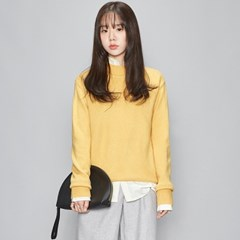 vivid half neck knit (4 colors)_(478526)