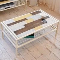 히토리 크림 원목 테이블