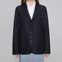 navy simple 3 button jacket_(483364)
