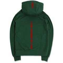 Back Message Hoodie(Green)