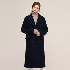 DE STUDIO WOOL DOUBLE COAT (BLUE)