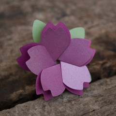 벚꽃카드 Purple