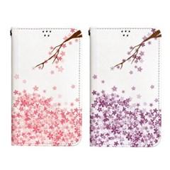 달라라삼 벚꽃가지 플립케이스-갤럭시 아이폰
