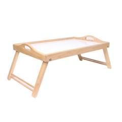 네츄럴 접이식 우드 트레이 미니 테이블