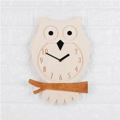 부엉이 자작나무시계-Owl Clock(W)