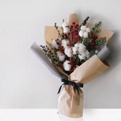 목화 & 스탈린잔 그레이 꽃다발