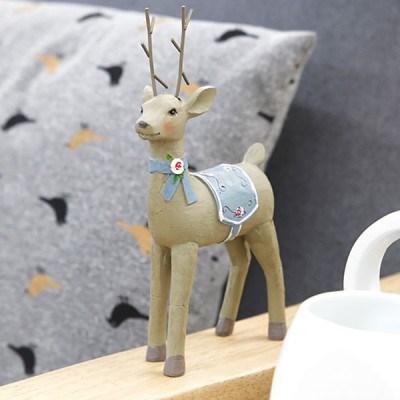 내츄럴 꽃사슴 미니어쳐 장식 소품