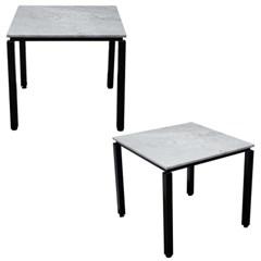 2인용 대리석 사각테이블