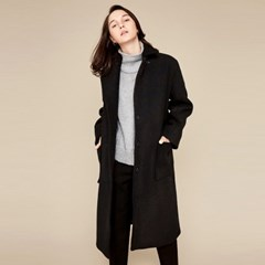 MASCULINE SINGLE BOTTON COAT(BLACK)