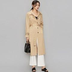 long slit unique trench coat (2 colors)_(496652)