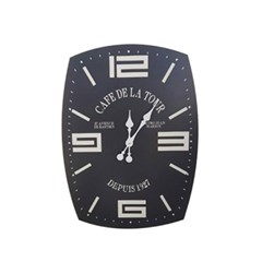[ATELIER] HH 블랙 직사각벽시계(카페)