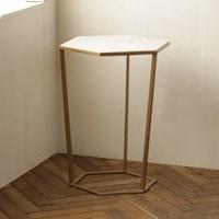 [밀란] 로즈비앙코 헥사 대리석 테이블