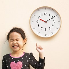 우드로하우스 무소음 교육용벽시계