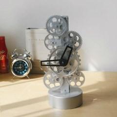 톱니 스탠드형 시계-실버형