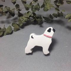 강아지 - 퍼그 석고방향제 (차량용/탁상용)