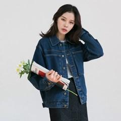 [마이블린] 빅 포켓 카라 청 자켓_(466896)