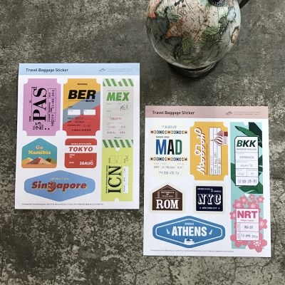 Travel Baggage Sticker 01