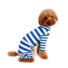 Rib Stripe All In One_ Blue