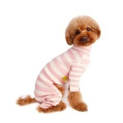 Rib Stripe All In One_ Soft Pink