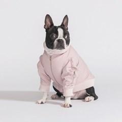 배색 항공 점퍼-pink