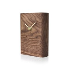 SQUARE CLOCK - Walnut