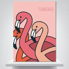 핑크 플라밍고 - 감성그림 폼보드 액자