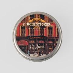 Circle Sticker Tin-12 NewYork
