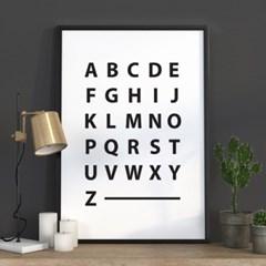 알파벳포스터_ 고딕 알파벳 포스터, 심플 알파벳포스터