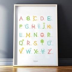 알파벳포스터, 이미지 알파벳, 연상학습 포스터