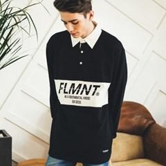 Unisex Basic Shirt Collar Tee-Black