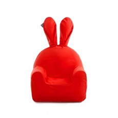 rabito chair small set (solid red cover+sky white inner)