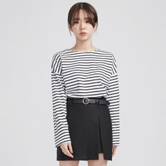casual stripe boxy fit T (2 colors)_(513712)