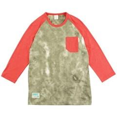 [2ND CORNER] 세컨드코너 칠부 티셔츠 VORTEX - KHAKI