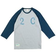 [2ND CORNER]세컨드코너 칠부 티셔츠 PRINCETON - GREY