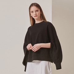 [STELLA7] Open Sleeve Sweatshirt(Black)_(515187)
